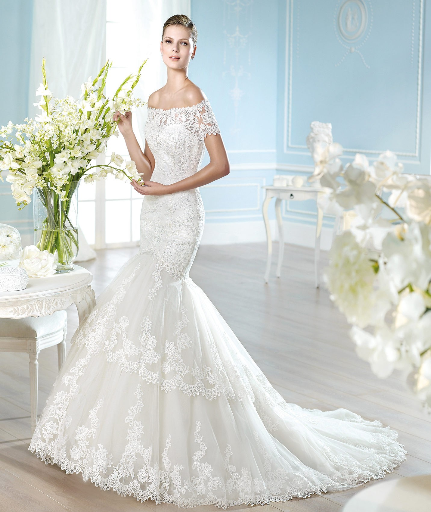 Sexy And Dazzling Lace Mermaid Wedding Dresses